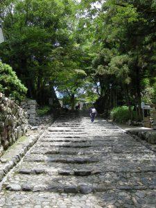 国宝犬山城までの石段