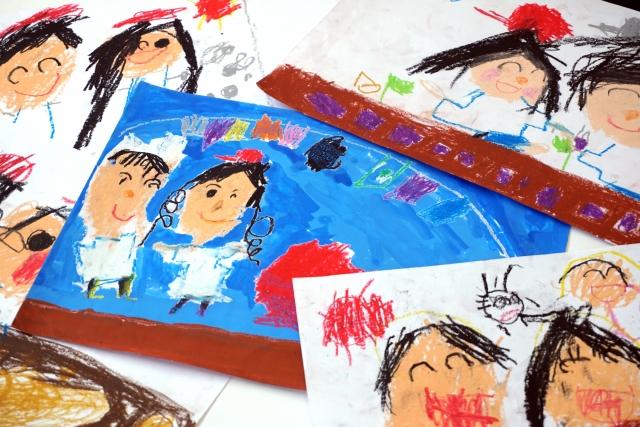 保育園や幼稚園の運動会の思い出の絵