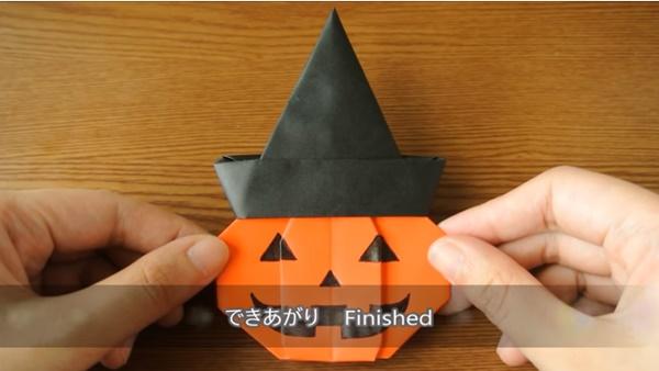 ハロウィン折り紙・かぼちゃ