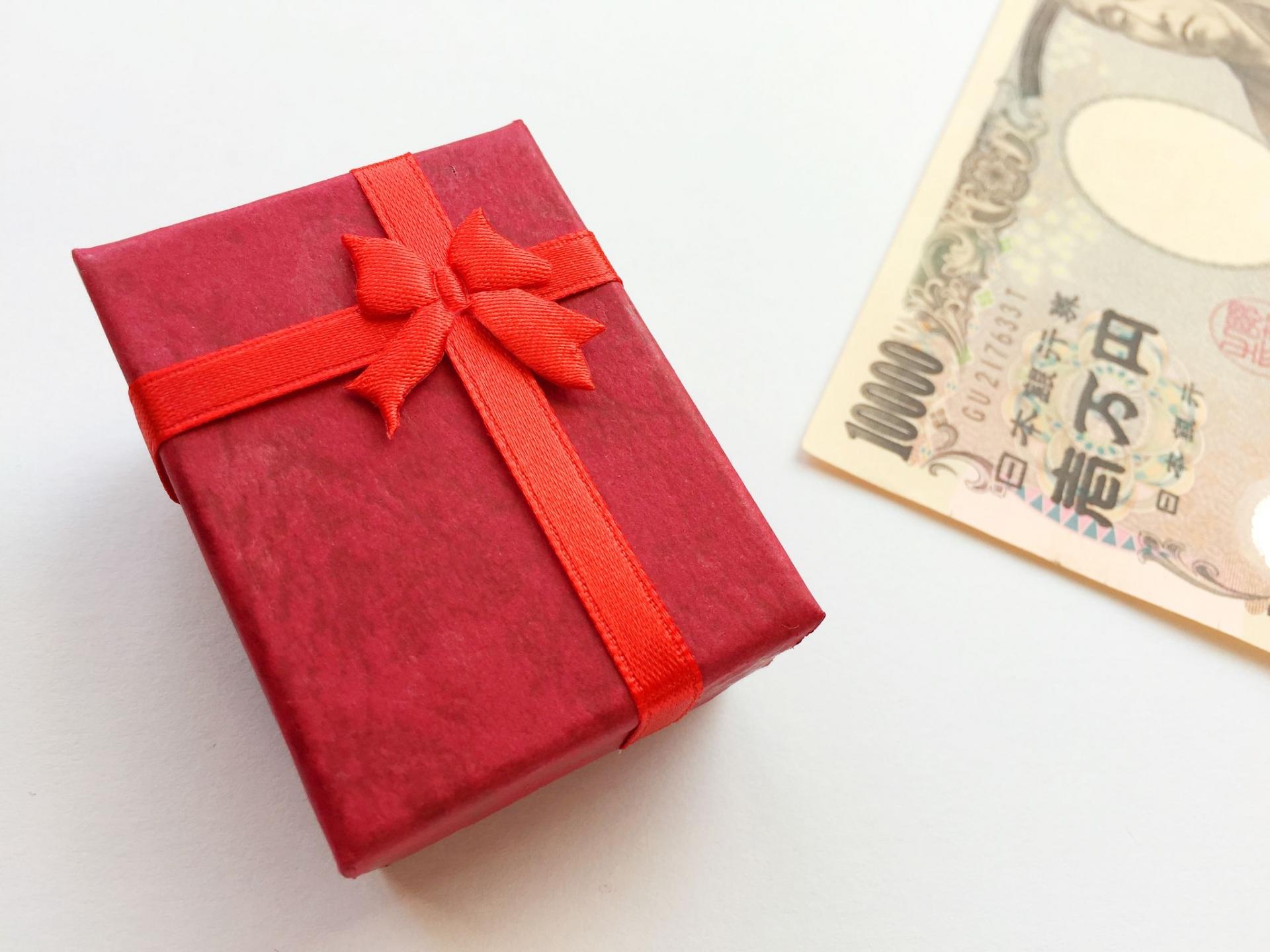 プレゼントの平均予算